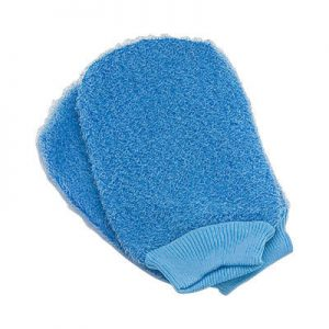 Body scrubbing exfoliating bath gloves - Huxbeauty