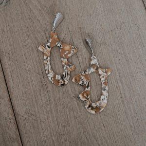 Earrings brown