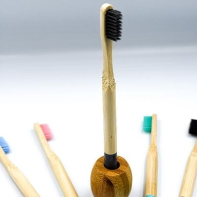 Eco Friendly Bamboo Toothbrush Holder