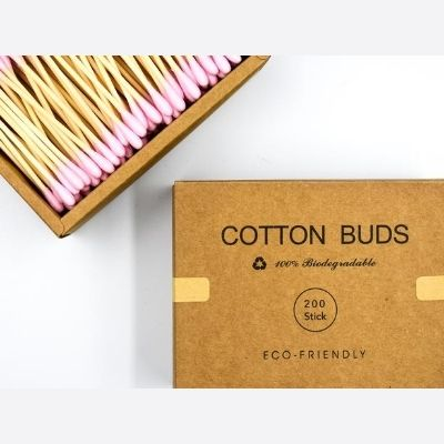 Eco Friendly Pink Bamboo Cotton Buds